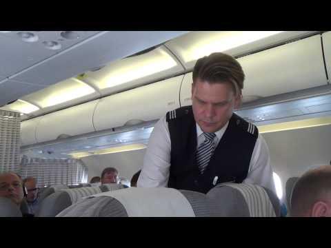Finnair flight London-Helsinki on business class