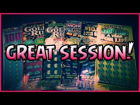 Florida Lottery Scratchers: Great session with $250 worth of tickets