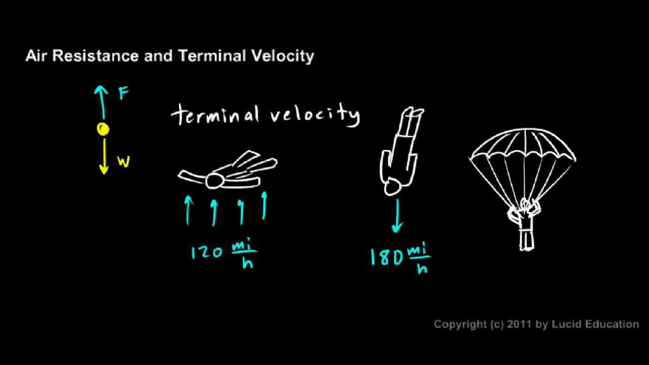an overview of the experiment the terminal velocity