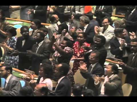 The United Nations pays tribute to Nelson Mandela