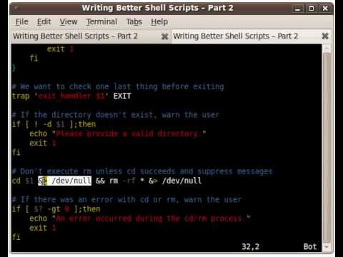 Writing Better Shell Scripts - Part 2
