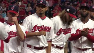 Watch the Indians introductions before Game 1 against the Yankees