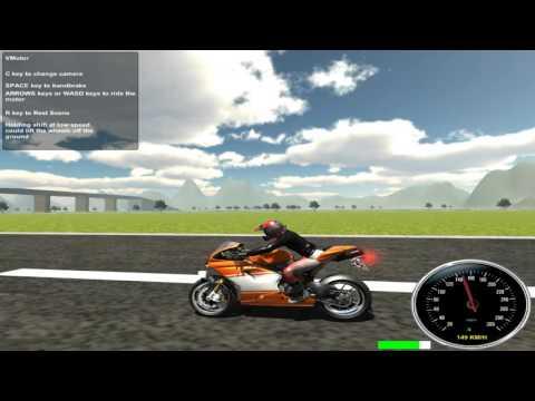 Видео Симулятор мотоцикла онлайн