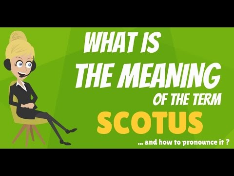 What is SCOTUS? What does SCOTUS mean? SCOTUS meaning, definition & explanation