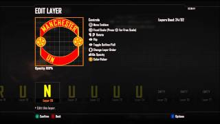 BO2 | Football Club Emblem Tutorial | Manchester United Badge Ep.5