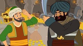 Ali Babá e os 40 Ladrões | Conto e Musicas  - Desenho animado infantil com Os Amiguinhos