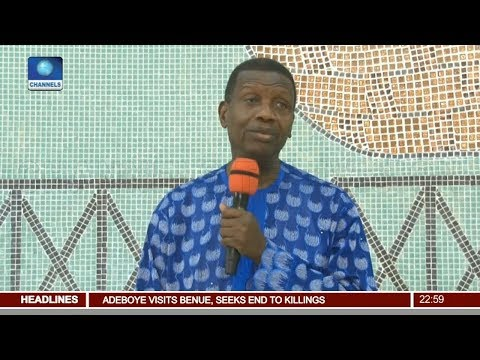 Pastor Enoch Adeboye Visits Benue, Seeks End To Killings Pt.1 @10 160318