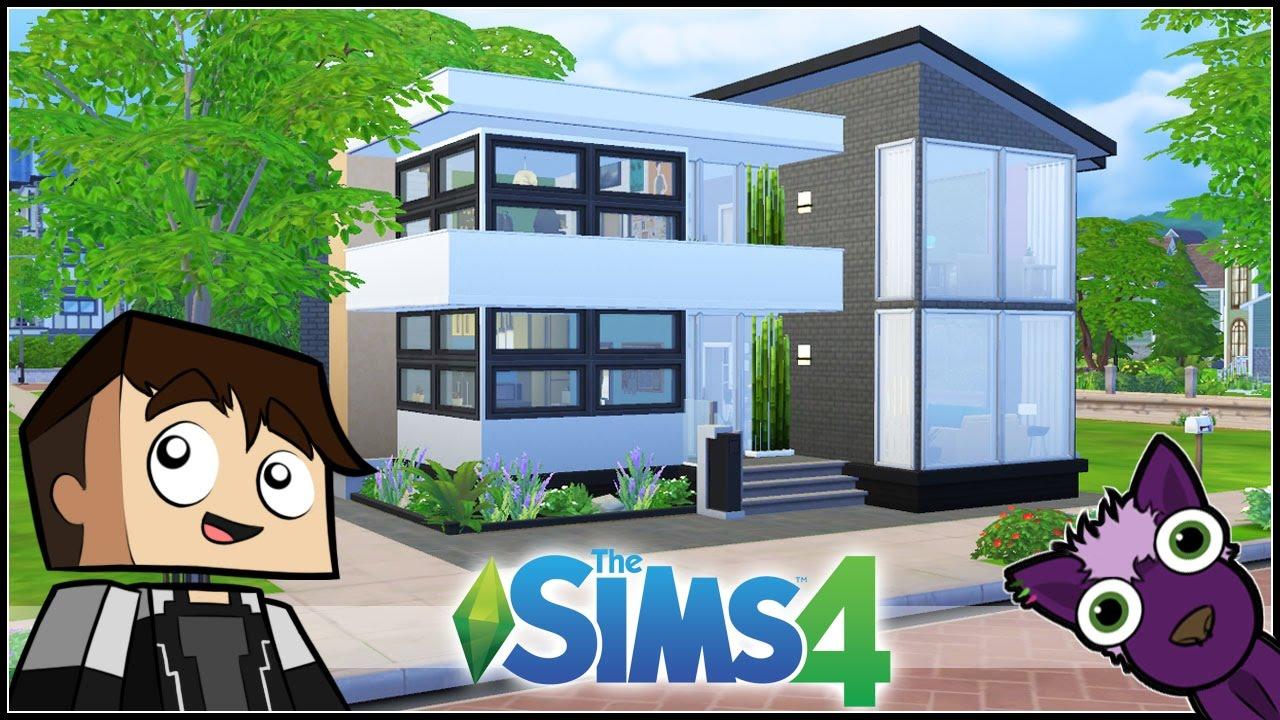 Los sims 4 mis construcciones casa moderna para for Casas modernas sims 4 paso a paso