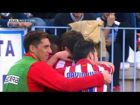 Málaga  vs Atlético Madrid 0-1 All Goals & Highlights 04.01.2014  | Malaga 0-1 Atlético