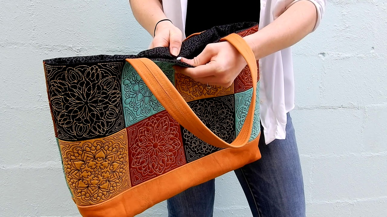 In the Hoop Machine Embroidery Design, Mandala Tote Bag