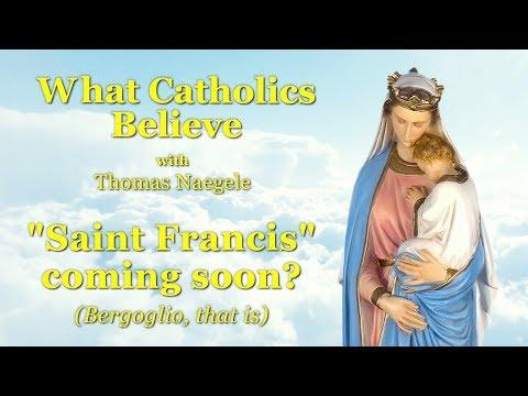 """""""Saint Francis"""" coming soon?"""