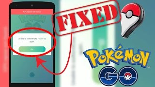 HOW TO FIX UNABLE TO AUTHENTICATE POKEMON GO. (100% WORKING 😲😉)