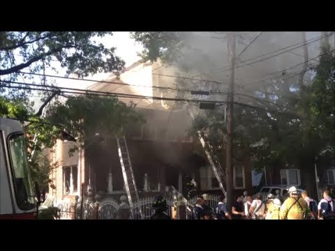 FDNY Fighting A Major 2nd Alarm Fire With Heavy Smoke In A Private House On 45th Road In Queens