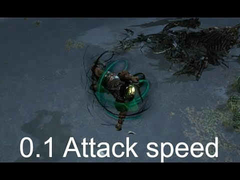 Path of Exile - Slowest attack speed