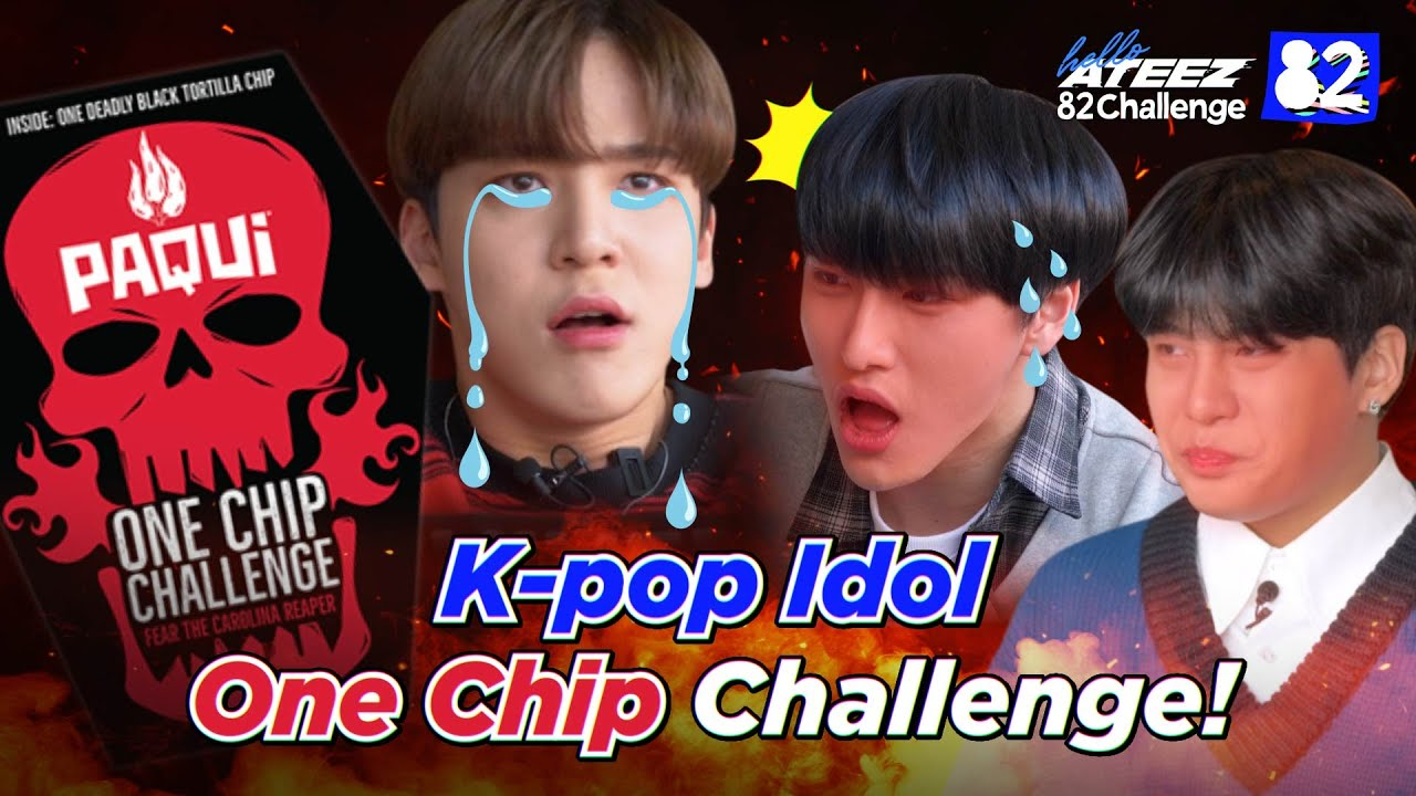 Download ATEEZ Tries the One Chip Challenge I 82Challenge EP.7