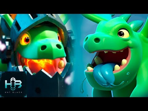 Bebe Dragon Vs Dragon Infernal | RAP Español | Clash Royale | Hat Black Game