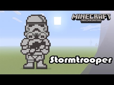 Minecraft: Pixel Art Tutorial And Showcase: Stormtrooper (Star Wars)