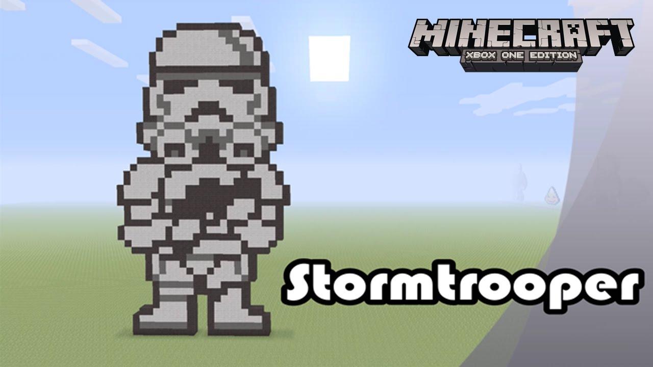 Minecraft Pixel Art Tutorial And Showcase Stormtrooper Star Wars