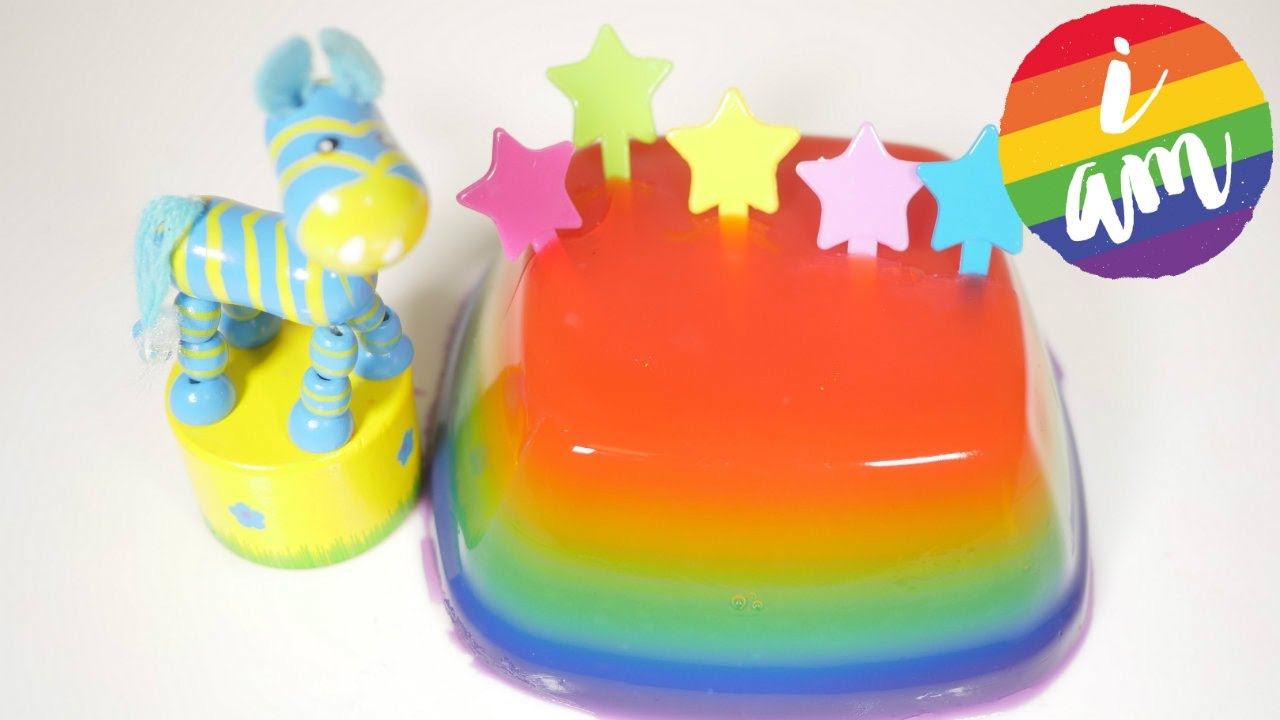Jelly Cake Making: Learning Rainbow Colors How To Make Educational Toys For