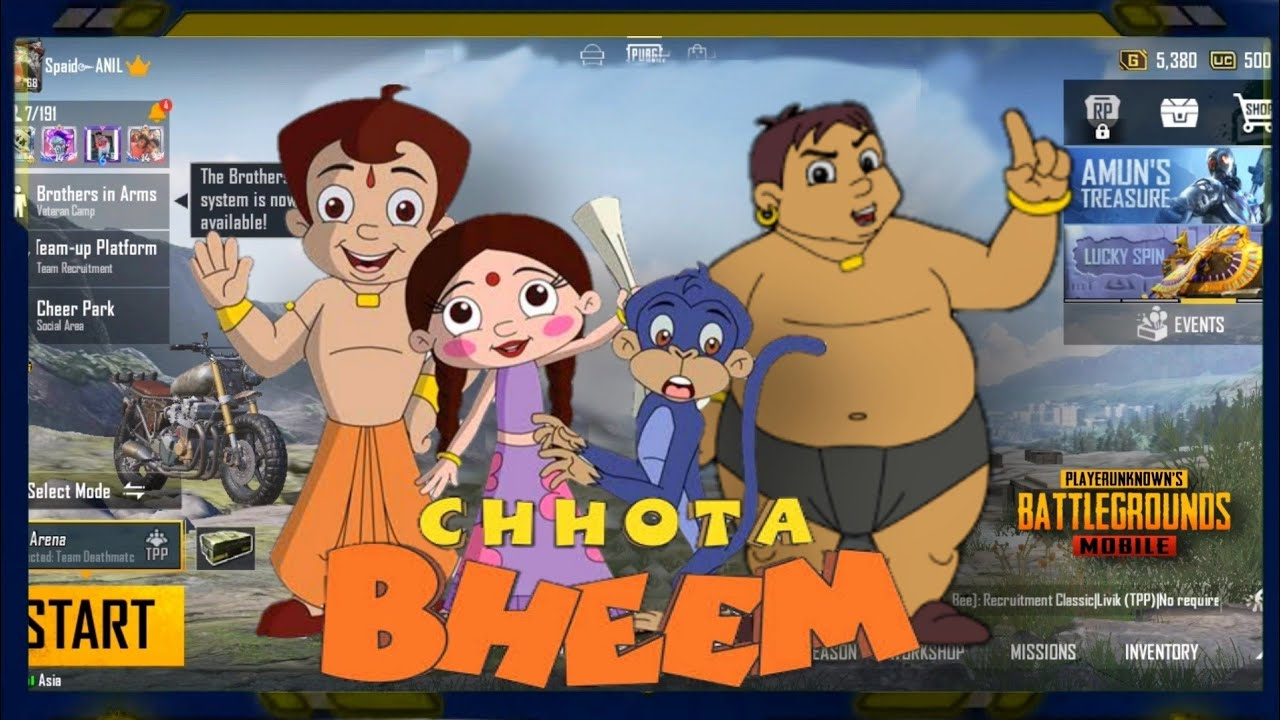 When Chhota Bheem Plays Pubg Mobaile || CHOTA BHEEM || Chota Bheem Playing Pubg Mobile ||AMZING ANIL