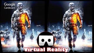 3D Battlefield 3 - VR Virtual Reality Vídeo Google Cardboard VR Box