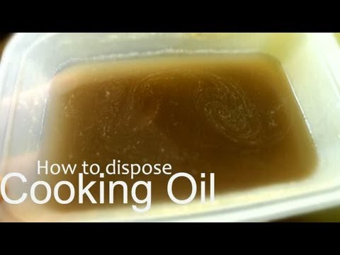 How to dispose cooking oil