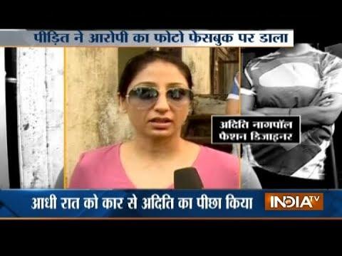 CCTV: Fashion Designer chased by stalker in Mumbai