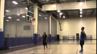 satnam singh bhamara 7 feet 2 inches big man showing his shooting skills