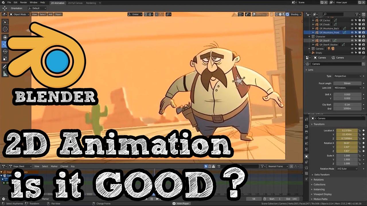 Download is Blender good for 2D animation