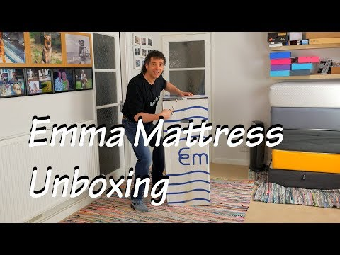 emma mattress unboxing - overview - compared to Simba UK foam