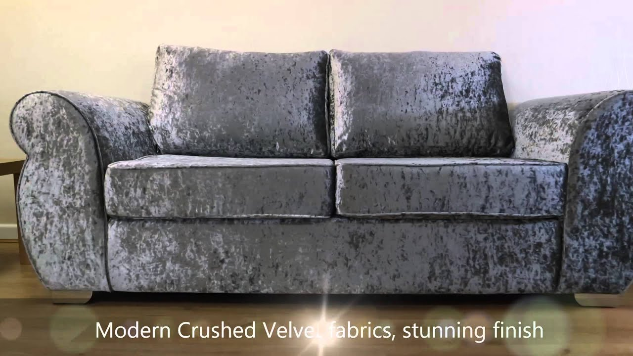 Delightful Chloe Glitz Silver Sofa   YouTube