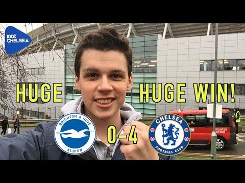 BRIGHTON 0-4 CHELSEA || HUGE HUGE WIN || LIVE REVIEW