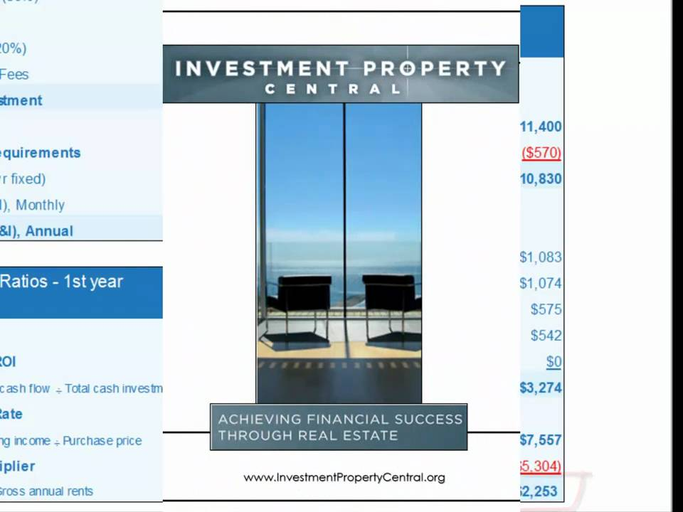 Creating an Income Statement for an Investment Property - YouTube
