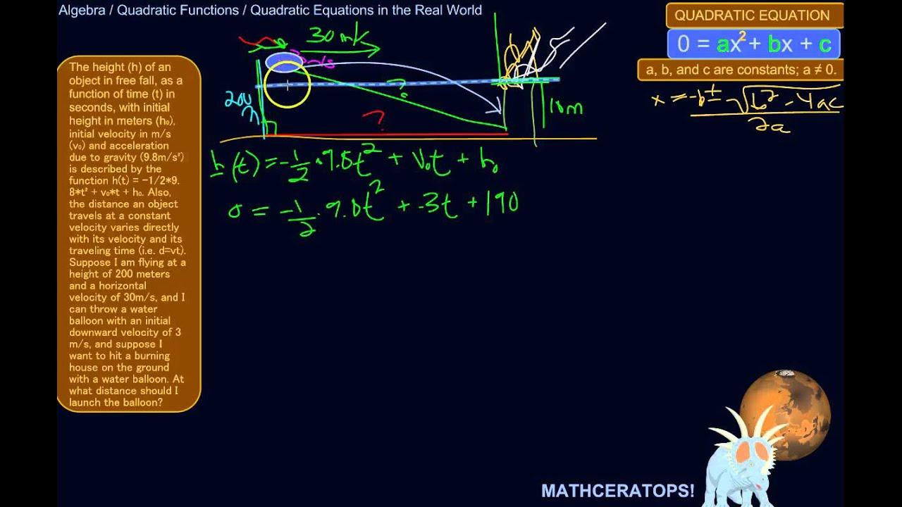 describing quadratic equations