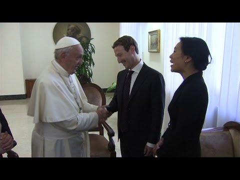 Pope Francis meets Facebook founder Mark Zuckerberg