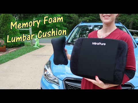 🍀 Premium Memory Foam Lumbar Cushion with 🦋Neck Pillow (Back Support ) Car Chair Review👈
