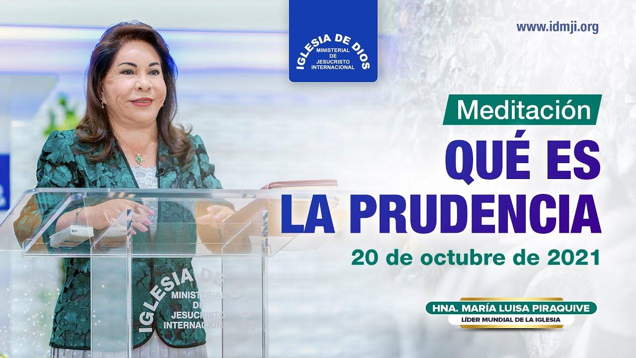 Qué es la prudencia - Hna. María Luisa Piraquive - IDMJI