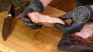 Smoked Dry Aged Brisket   BBQ Brisket   LSG Offset Vertical Smoker