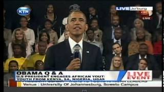 President Barrack Obama responds why he did not visit Kenya