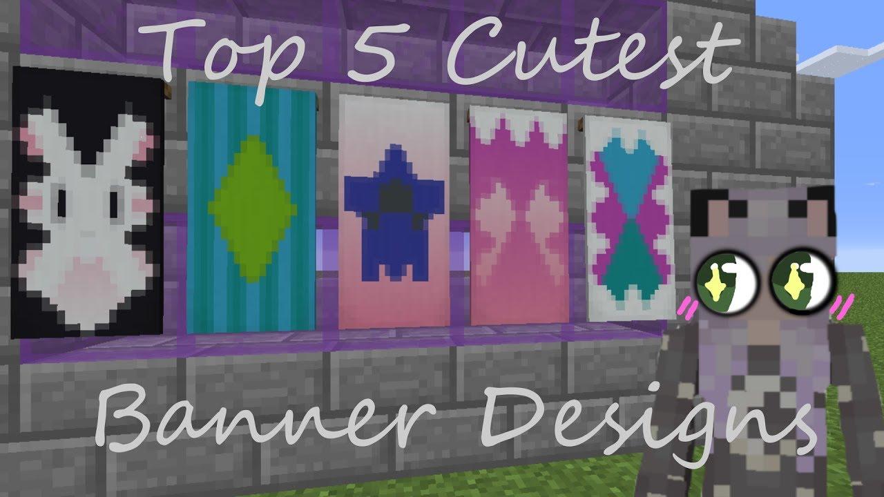 minecraft top 5 cutest banner designs youtube