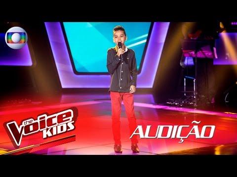 Marco Souzza canta 'Porque Homem Não Chora' na Audição –  The Voice Kids Brasil | 2ª Temporada