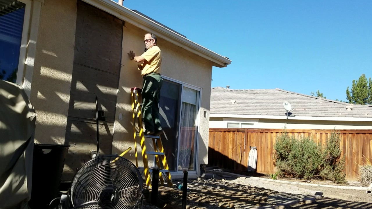 how to remove stucco from the exterior of your home youtube