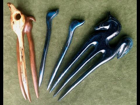 Jadedrache Hair Poetry - unique and handmade hair sticks