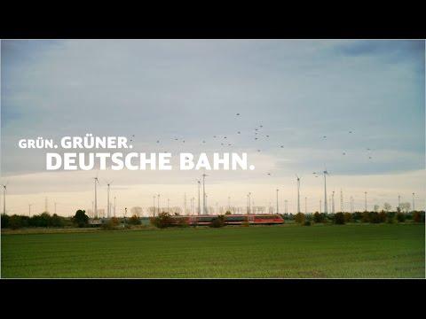 Grün. Grüner. Deutsche Bahn.