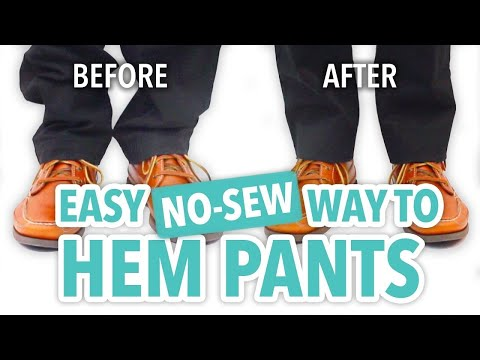 Easy No-Sew Way to Hem Pants - HGTV Handmade