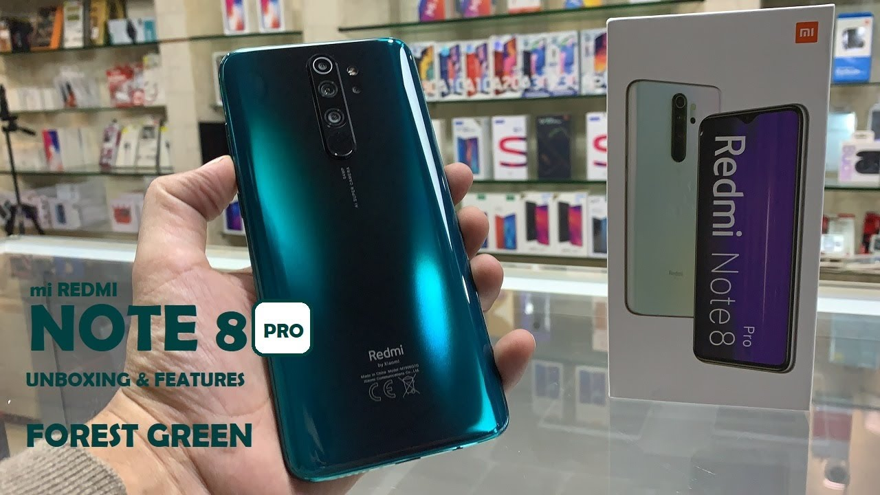 Mi Redmi Note 8 Pro Mi Redmi Note 8 Pro Forest Green Mi Redmi Note 8 Pro Unboxing And Features Youtube