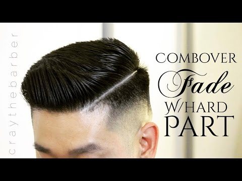 How to do a Combover Fade with a Hard Part | CRAYTHEBARBER