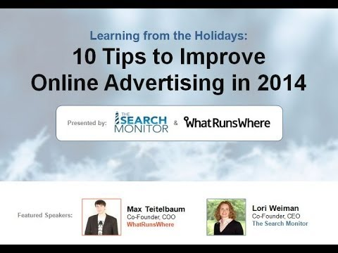 The Search Monitor - 10 tips to improve online advertising in 2014
