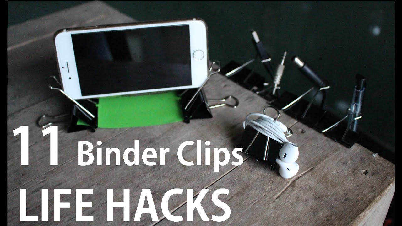 11 binder clips life hacks you can do it yourself diy. Black Bedroom Furniture Sets. Home Design Ideas