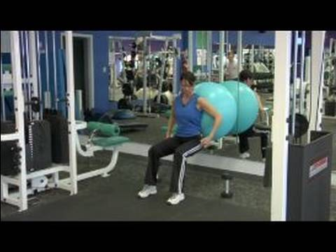 How To Use An Exercise Ball : Squats With An Exercise Ball